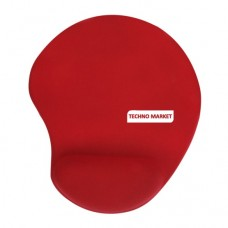 Solid Jersey Gel Mouse Pad With Wrist Rest (Red)