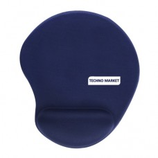 Solid Jersey Gel Mouse Pad With Wrist Rest (Blue)