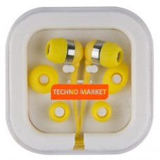 Techno Market Color Pop Earbuds (Yellow)